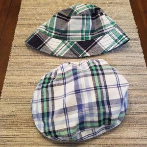 Janie & Jack 2T-3 Plaid Sun & Newsboy Hats